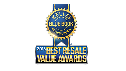 Kelley Blue Book 2016 Best Resale Value Awards
