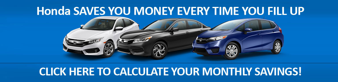 Save more at the pump than ever before with a new fuel efficient honda